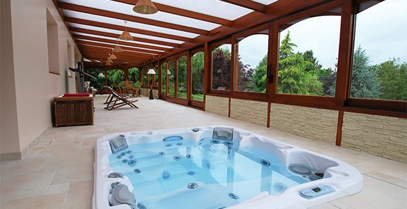 Pergola veranda et couverture de piscine en le de france - Pergola piscine ...